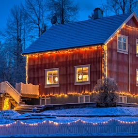 Home decorated by light by Johannes Mikkelsen - Public Holidays Christmas ( winter, d800, art, norge, nikon, norway, city at night, street at night, park at night, nightlife, night life, nighttime in the city )