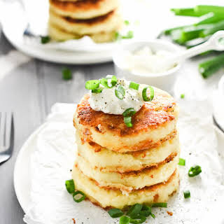 Cheesy Leftover Mashed Potato Cakes.