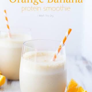 Orange Banana Smoothie.