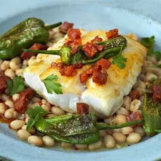 Cod with Beans, Chorizo and Peppers