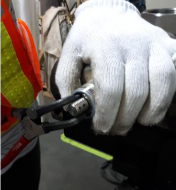 adjusting a bigger safety valve