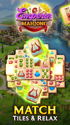 Emperor of Mahjong: Match tiles & restore a city apktreat screenshots 1