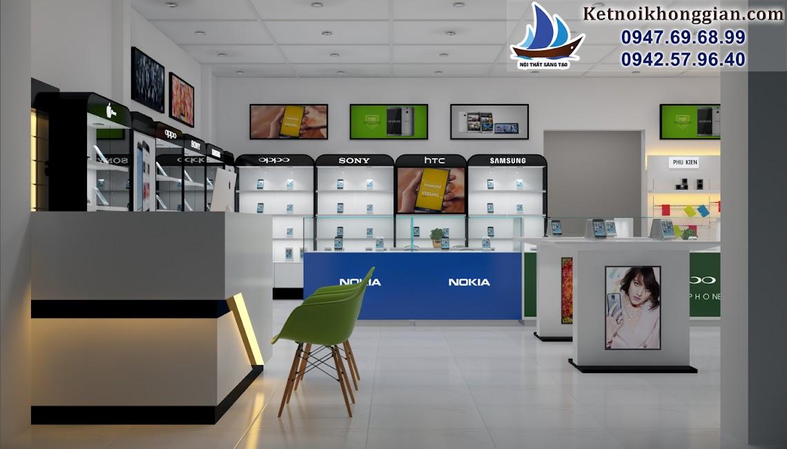 thiết kế cửa hàng điện thoại di động hiện đại