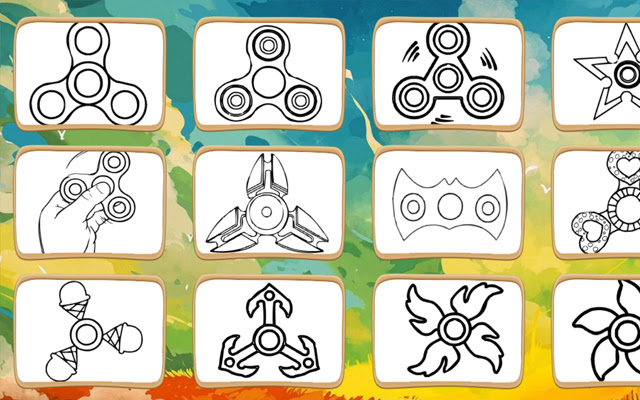 Fidget Spinner Coloring Book Game