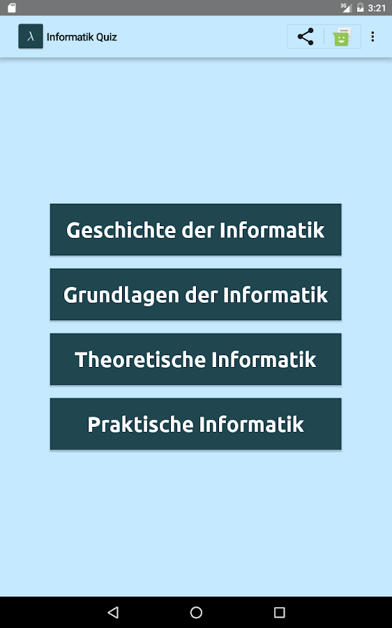 Informatikquiz- screenshot