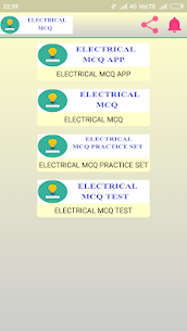 Electrical MCQ App Download for Android 1