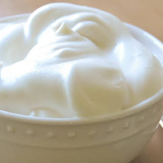 All Natural Fat Free Whipped 'Cream'.