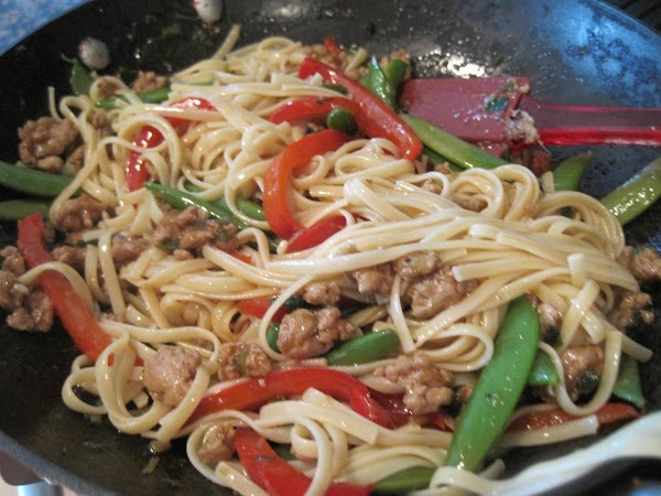 I'm a sucker for noodles so I served this over Dreamfields (low carb) linguini....