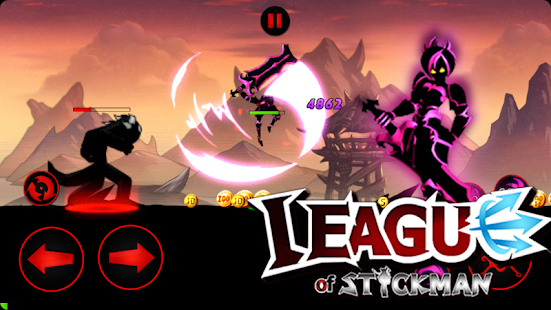 League of Stickman 2018- Ninja Arena PVP(Dreamsky) Screenshot