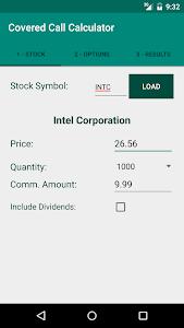 Covered Call Calculator screenshot 0