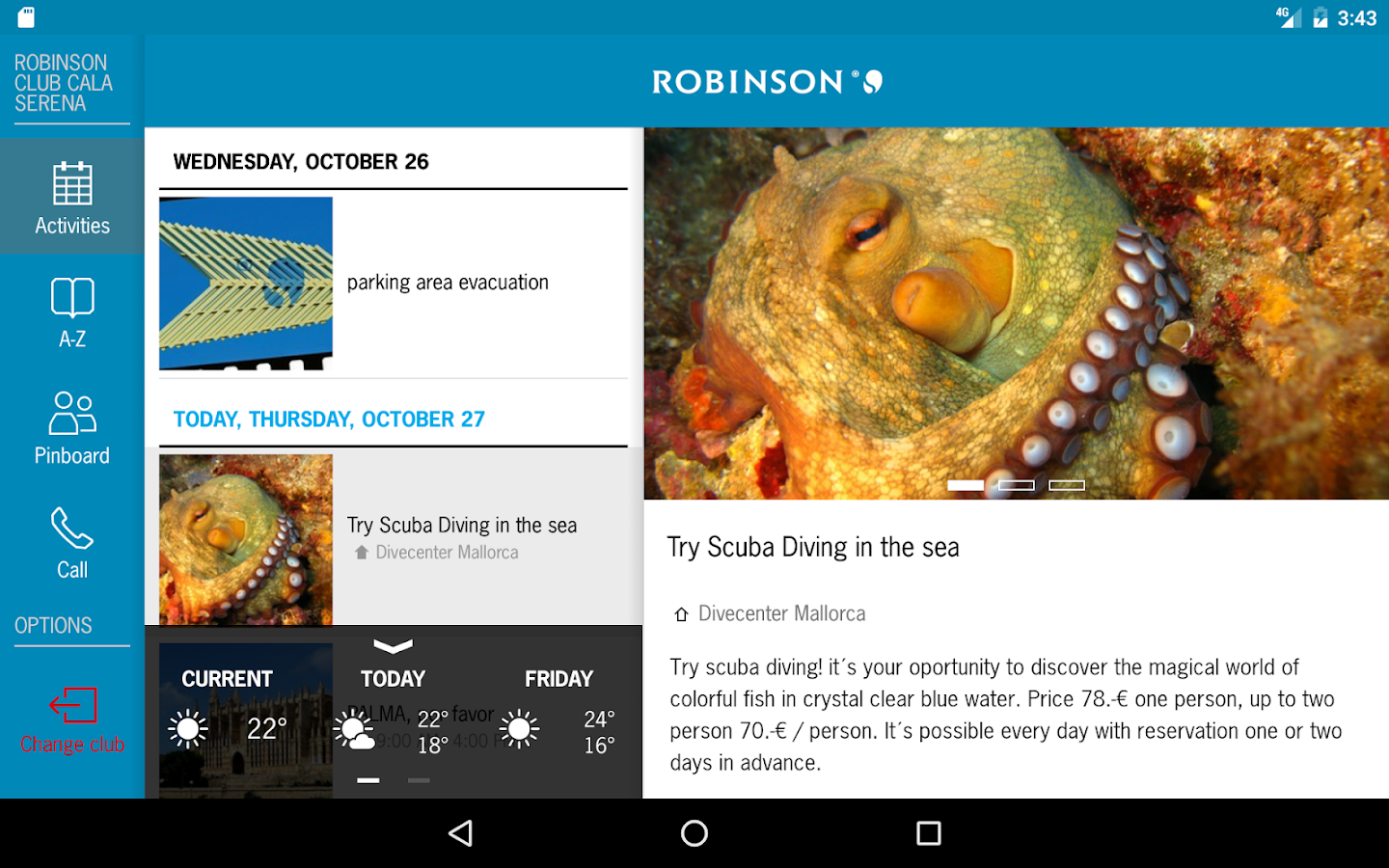 ROBINSON App- screenshot