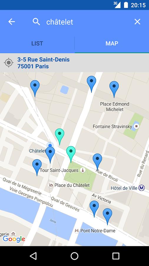 Toilets in Paris: screenshot