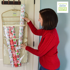 The Clutter Keeper Deluxe Hanging Gift Bag Organizer