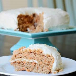 Carrot Spice Cake with Greek Yogurt.