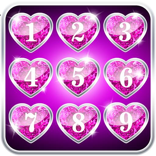 Diamond Hearts Lock Screen