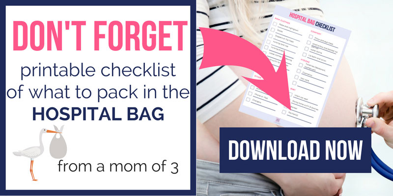 What to pack in hospital bag for delivery