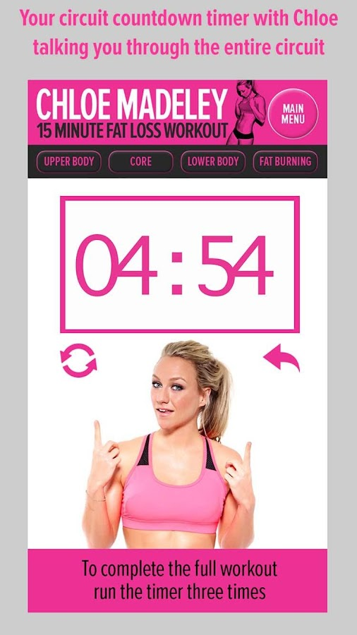 Chloe Madeley 15 Min Fat Loss- screenshot