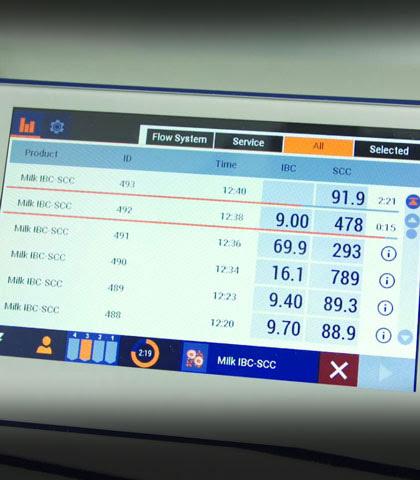 Результаты, показанные на экране BacSomatic™