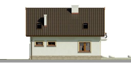 Dom przy Alabastrowej 20 - Elewacja tylna