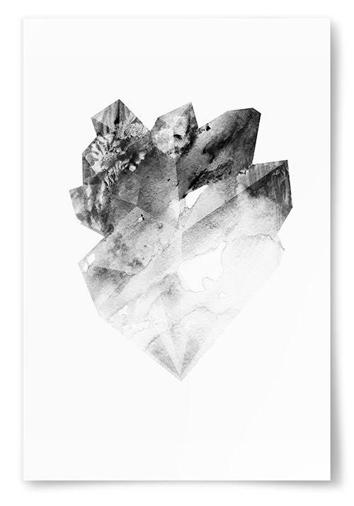 Poster Svartvit Kristall No1
