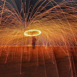Steelwool photography by Taher Hajiwala - Abstract Fire & Fireworks ( #fire, #art, #steelwool, #abstract )