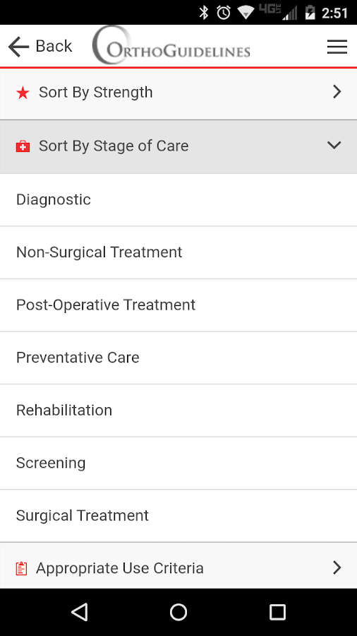 OrthoGuidelines- screenshot