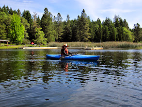 Photo: Linh in her kayak