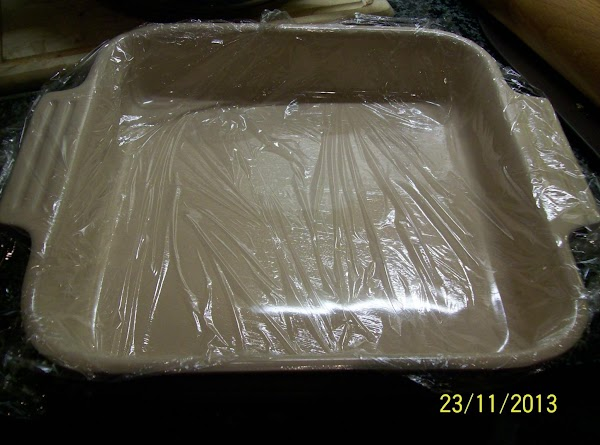 prepare a medium size pyrex dish I used a square shape one .grease a...