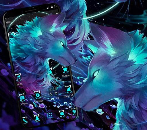 Dark Night Magic Wolf Theme 1.1.1 screenshots 1