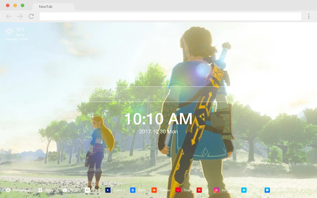 Zelda HD New Tabs Popular Games Themes