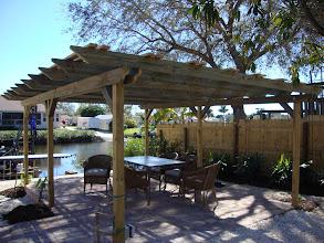 Photo: Pergola to enjoy the backyard paradise