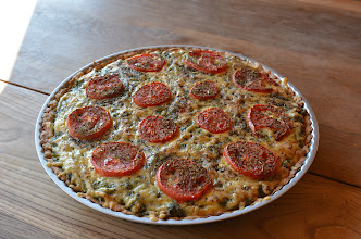 Photo: Tarta szpinakowo-pomidorowa