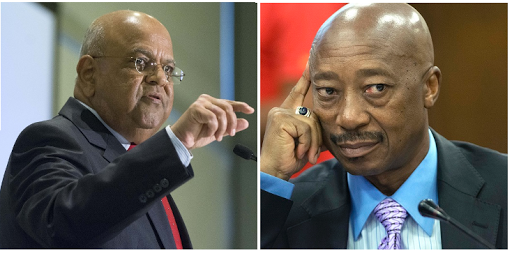 Pravin Gordhan, left, and Tom Moyane. Pictures: TREVOR SAMSON
