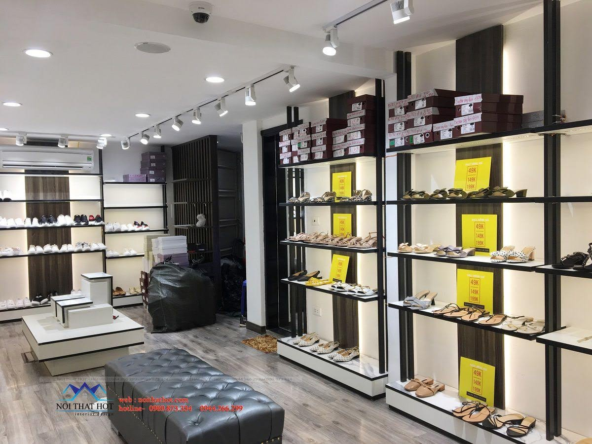 thiết kế thi công shop giày dép thời trang ha huyen 5