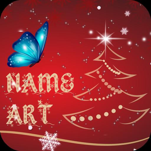 Christmas Card Name Art Maker Icon