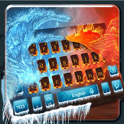 Ice Fire Keyboard Theme