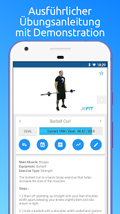 JEFIT Workout Tracker, Gym Plan, Personal Trainer Screenshot