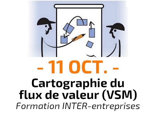 Cartographie du flux de valeur Value Stream Mapping VSM Formation Inter-entreprises