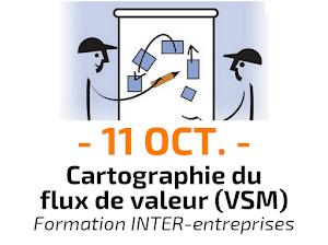 Cartographie du flux de valeur Value Stream Mapping VSM Formation Inter-entreprises