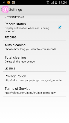 android Perfect Voice Call Recorder Screenshot 2