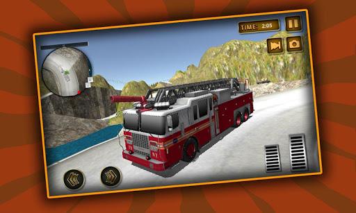Fire Truck Hill Climb Driver