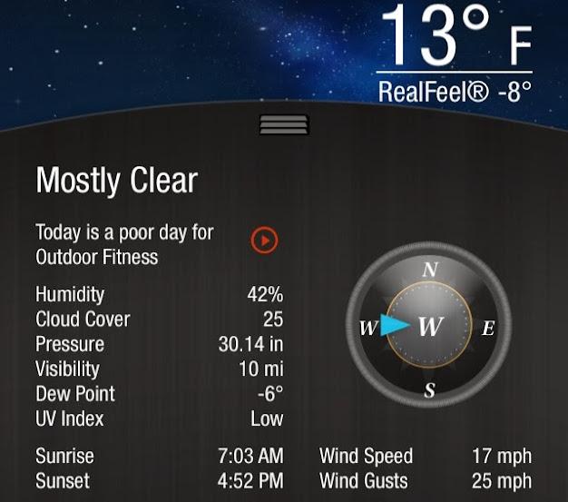 January 2014 -8 degrees