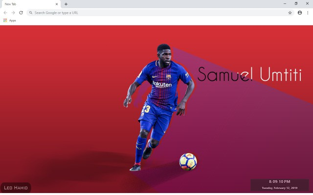 Samuel Umtiti New Tab & Wallpapers Collection