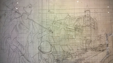 Photo: August 7-A study for the Thomas Hart Benton mural.