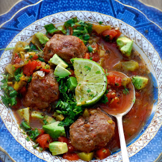 Albondigas {spicy Mexican Meatball Soup}.