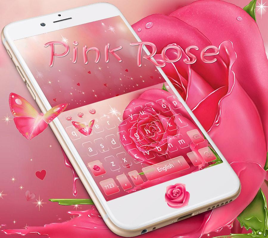 home pink rose theme - photo #16
