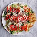 How to prepare salad icon