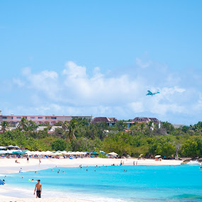 On the beach by Dave Reece - Landscapes Travel ( st maarten, simpson bay, beach )