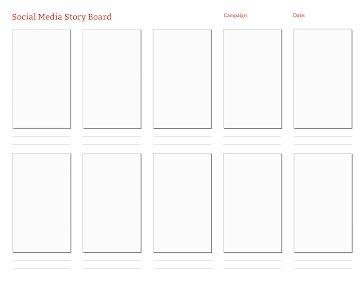 Social Story Board - Storyboard template
