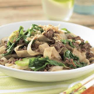 Peanut Beef Noodle Stir-Fry.